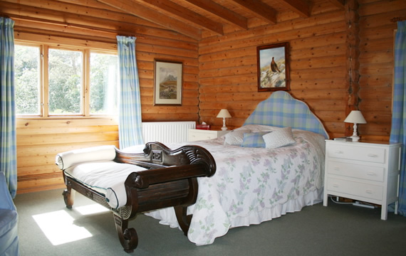 One of the double rooms at the Log House