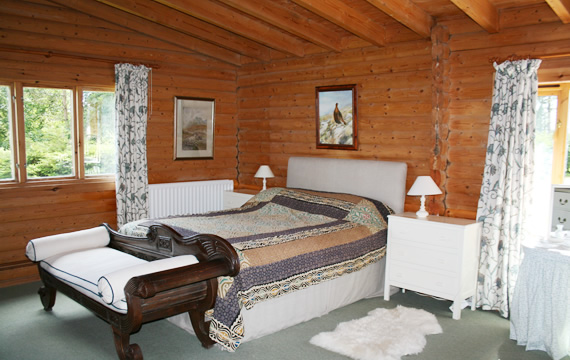 A double room at The Log House