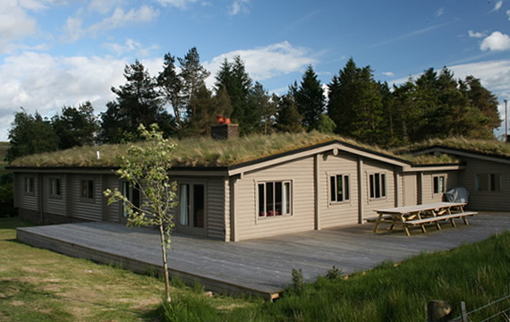 Norwegian designed 9 bedroom log cabin in Scotland
