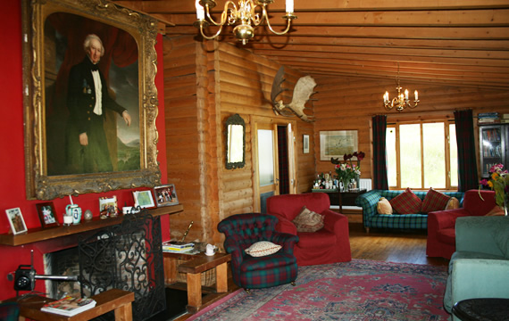 Lounge area at The Log House